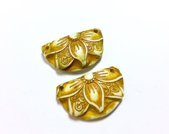 Yellow Flower Earring Drops
