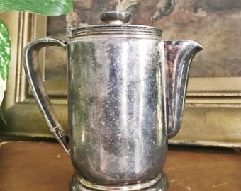 Vintage 1947 Silver Plated Teapot from New York Central Railroad
