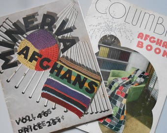 Vintage Craft Books, Columbia Afghan Book and Minerva Afghans