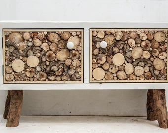 Driftwood Scandinavian Style TV cabinet/stand, Driftwood Scandinavian Style Sideboard,Driftwood Sideboard, Skandi Driftwood TV Media Unit