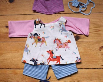 """Doll Outfit """"Horses"""" 40 cm"""