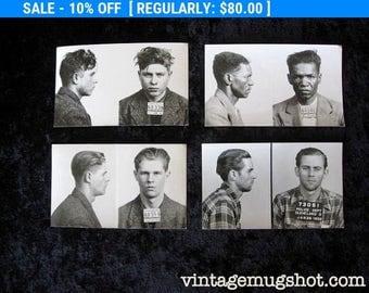 4 Cleveland Ohio Police Department Criminal MUG SHOTS 1940's 1950's Collection