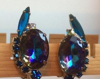 ANNIVERSARY SALE Juliana Blue Heliotrope Watermelon Earrings