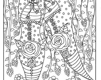 5 pages of Fairy Feet Instant download Digital/digi stamp/fairy house/fairy foot/fairies/fantasy