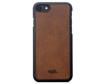 iPhone 7 PLUS Case Cover - CHESTER - Vegetable Tanned Leather Backcover