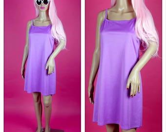 Vintage 1990s Purple Spaghetti Strap Summer Dress