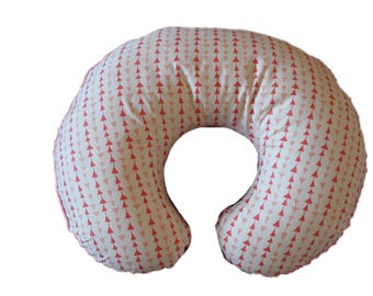SALE-triangles boppy cover, coral boppy, coral triangles- Ships Today