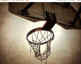 FLASH SALE til MIDNIGHT Vintage Basketball Hoop  Photo Print ,Decorating Ideas, Wall Decor, Wall Art, Mvp, Kids Room, Nursery Ideas, Gift Id