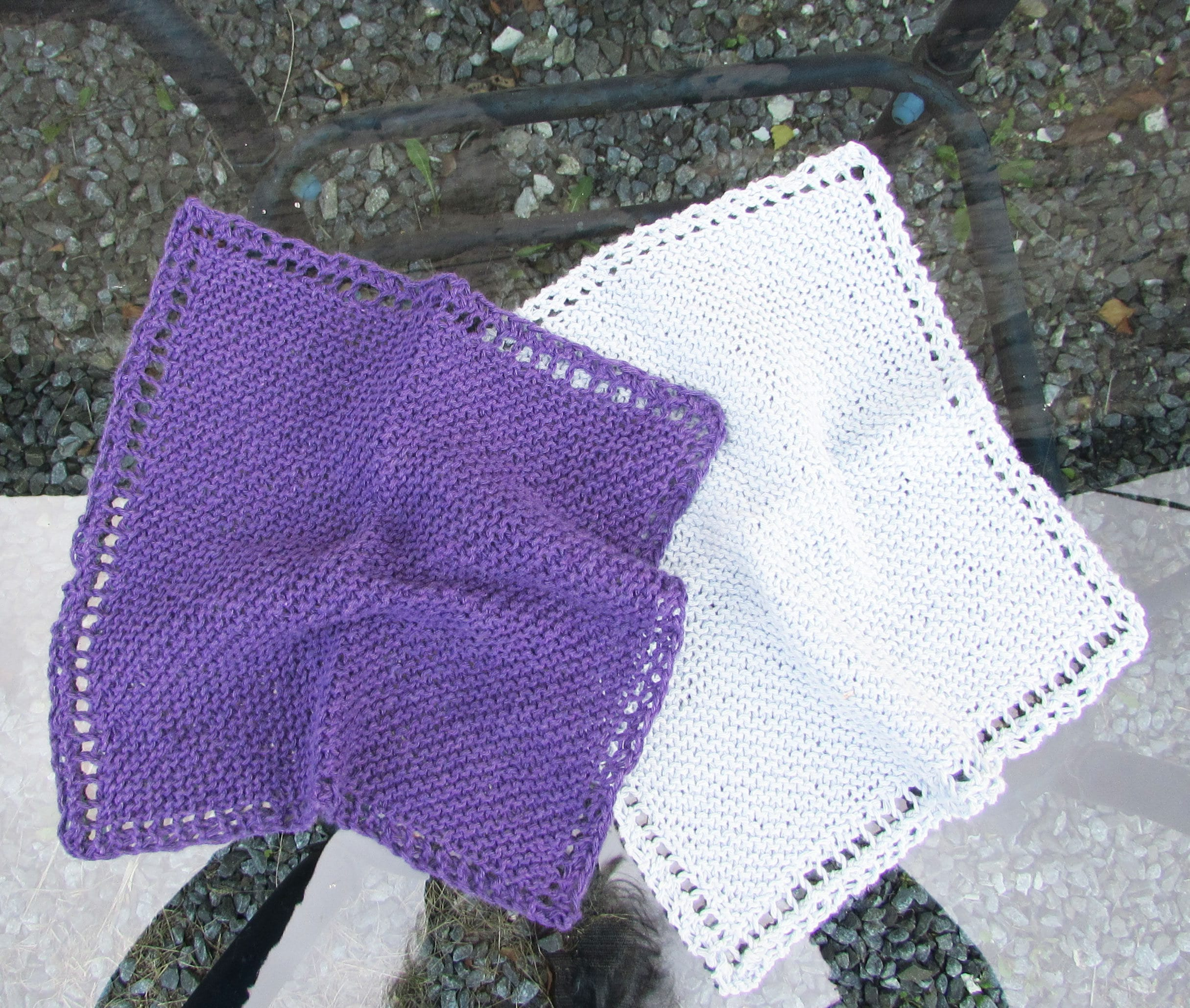 Hand knitted dishcloths or facecloths pack of 2 100 cotton details hand knitted dishcloths bankloansurffo Image collections