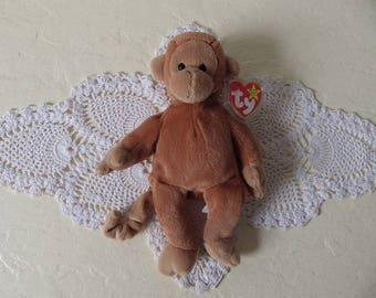 Beanie Babies Bongo the Monkey, 1995. As New with all tags.