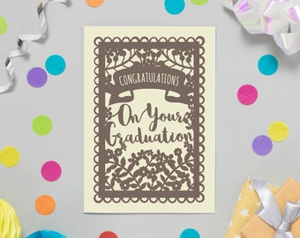 Congratulations on your Graduation Card, Cards for Graduates, University, School, College, Nursery Graduation, SKU_WP002