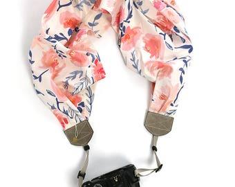 scarf camera strap sweet blossoms - BCSCS111