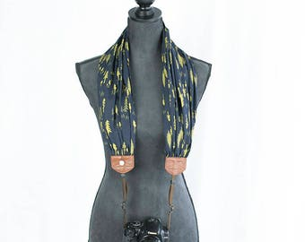 scarf camera strap evening evergreen - BCSCS117
