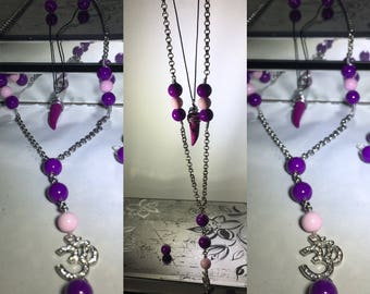 Layered Om necklace