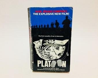 Vintage Book Platoon Film Novelization 1986 Paperback