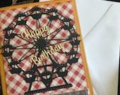 birthday card handmade Ferris wheel fun