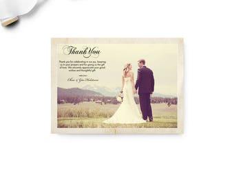 """Wedding Thank You Magnet, 4x5.5, Wedding Thank You, the """"Gia"""""""