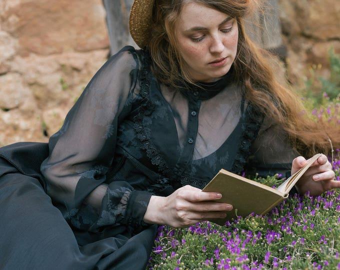 Floral Gothic Lolita Chiffon shirt