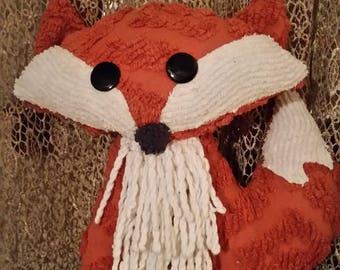 Chenille pillow fox