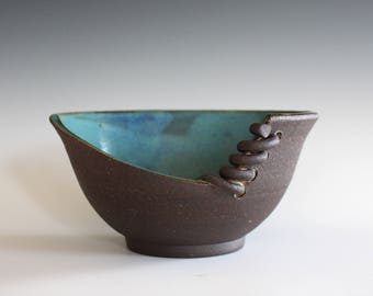 Pottery Bowl,Unique Pottery Bowl, Handmade Ceramic Modern Bowl, Handthrown Stoneware