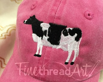 KIDS Cow Baseball Cap Hat Leather Strap Dad Hat Youth Child Boy or Girl Children Milk Cow Black and White Rodeo Cowgirl Cowboy Rance Farm