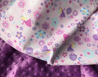 Baby Girl Blanket, Fairy Blanket, Glitter Blanket, Toddler Girl Blanket, Baby Girl Minky Blanket, Personalized Baby Blanket