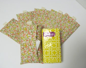 Set Of 6 Tissue Cases/Small Flower