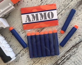 AMMO Bag Topper Printable Party Favor by Beth Kruse Custom Creations -- Dart Wars -- Epic Battle -- Target Practice -- Camo