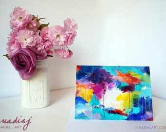 5x7 Abstract Colors Greeting Card