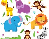 BACK TO SCHOOL Sale Zoo Animals SVGs, Zoo Safari Jungle Animals Cutting Templates - Commercial and Personal Use
