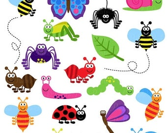 BACK TO SCHOOL Sale Bugs Clipart Clip Art, Insects Clipart Clip Art Vectors - Commercial and Personal