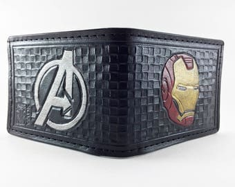 Iron Man / Avengers Hand Tooled Leather Wallet