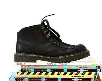 SALE Amazing 90s Black Dr. Martens Boots Size Women 9 9 1/2 Hiking Boot// Vintage Doc Marten Black Boots Size 7 UK Made in England