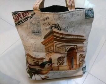 Beautiful Bird Handbag, Extra Large Canvas Tote Bag, Shoulder Bag, Beach Bag, Diaper Bag