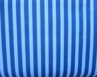 Riley Blake - C6354 - SHARKTOWN Blue Stripe Fabric - By Shawn Wallace - Two Tone Blue