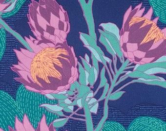 Protea in Midnight  PWJD125 - CALI MOD by Joel Dewberry - Free Spirit Fabric - By the Yard
