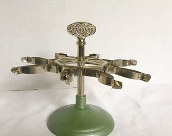 Industrial Decor, Vintage Office, Rubber Stamp Holder, STANDARD, Rotating Tree