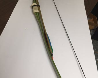 Vintage Stemmler Fiberglass Bow and Arrows