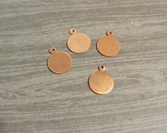 Metal Stamping Blanks Hand Stamping Blanks Circle Blanks 12mm Copper Blanks Circle Blanks Wholesale Stamping Blanks Copper Circle 10 pcs