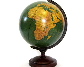 Vintage World Globe Art Deco WW2 c1939 Crams