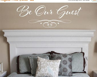 20% OFF Be our Guest -Bedroom family-Vinyl Lettering wall words decal graphics Home decals decor itswritteninvinyl