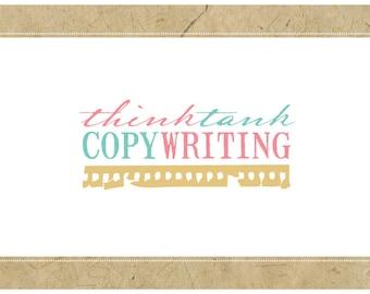 Custom Logo Design - PreDesigned Logo PreMade Logo Vector Logo - OOAK Logo - THINK TANK Logo - Copywriter Logo - Writer Logo - Blogger Logo