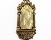 Vatican Library Collection Brooch, Jesus Mary with Child Pin, New in Box Vintage Jewelry, Catholic Pin, Catholic Jewelry, Christmas Brooch