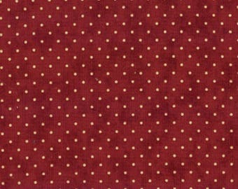 Moda Fabric Essential Dots Cranberry - 3 yards 16 inches  End of Bolt 8654 29
