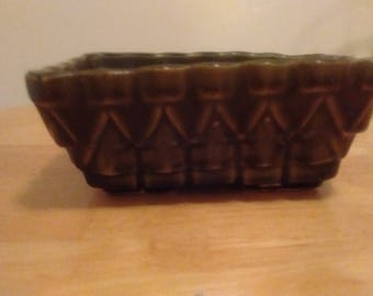 SALE Vintage Green Pottery Planter UPCO