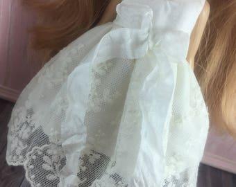 Blythe Ribbon Lace Dress - Off White