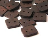 sm-med  walnut - clearance - square button pack - 8 pieces