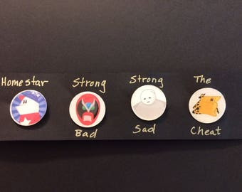 Homestar runner fashion button/pin set