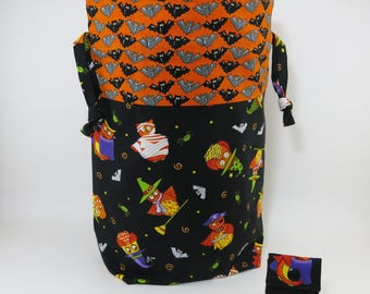 "New! ""Frightful Owls"" Drawstring Project Bag"