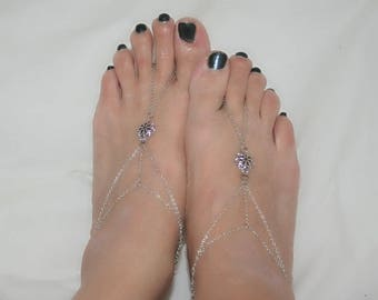 Foot bracelets and bangles ring with small flowers (m1-2)